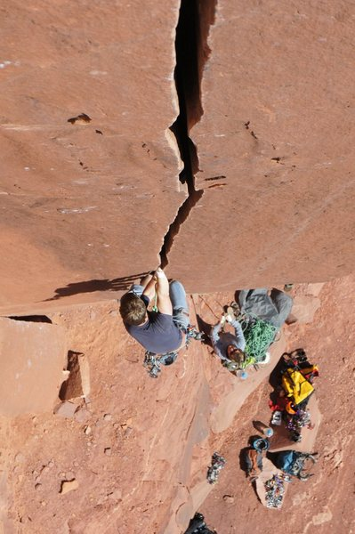 Rock Climbing Photo: pulling out of the pod