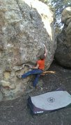 Rock Climbing Photo: Kyle Hicks sticking the move to the mail slot