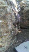 Rock Climbing Photo: Jon Hartmann sticking the jug