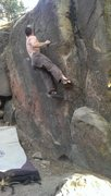 Rock Climbing Photo: Jon Hartmann sticking the crimp
