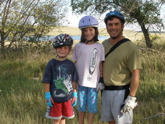 Rock Climbing Photo: me and the munchkins, mia 8yrs, jesse 5yrs