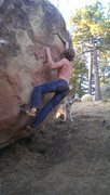 Rock Climbing Photo: Kyle Hicks moving out right