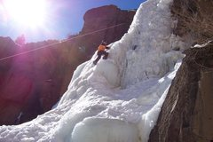 Rock Climbing Photo: clear creek falls ice