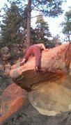 Rock Climbing Photo: Jon pressing it out