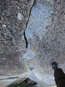 Rock Climbing Photo: Johnny Quest crack.