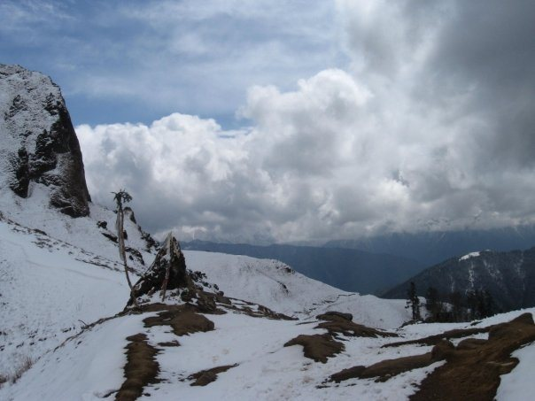 A snowy pass in Jumla District, Nepal.