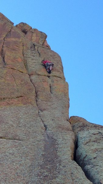 Rock Climbing Photo: Step right where Edge of Fright goes left, then it...