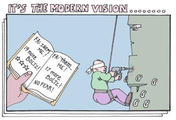 Classic Steve Dieckhoff cartoon.  His website is still alive - http://www.stevedieckhoff.com/.
