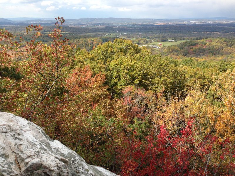 A fine fall day view from the top of White Rocks