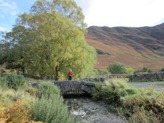 Rock Climbing Photo: Cute old bridge over Scope Beck, Newlands valley