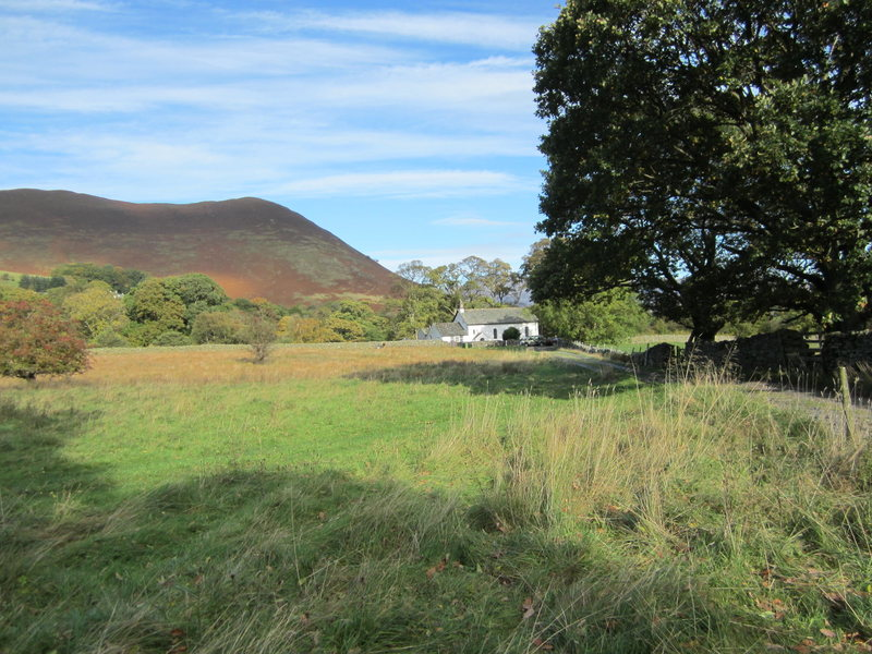 Looking towards the old church in Newlands Valley