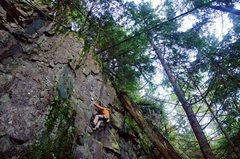 Rock Climbing Photo: Ryan leading Q.D. Pie