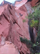 Rock Climbing Photo: Looking up at P2 and P3.