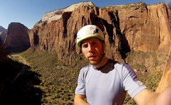 Rock Climbing Photo: Earth Orbit Ledge Self Shot