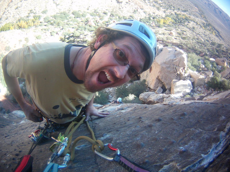 Rock Climbing Photo: Steve D and I.  Red Rocks, Nevada October 19th-23r...