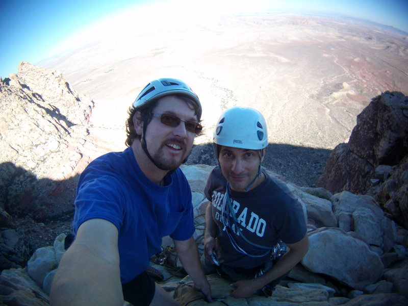 Steve D and I. Red Rocks, Nevada October 19th-23rd 2013. Frogland. 5.8<br>
