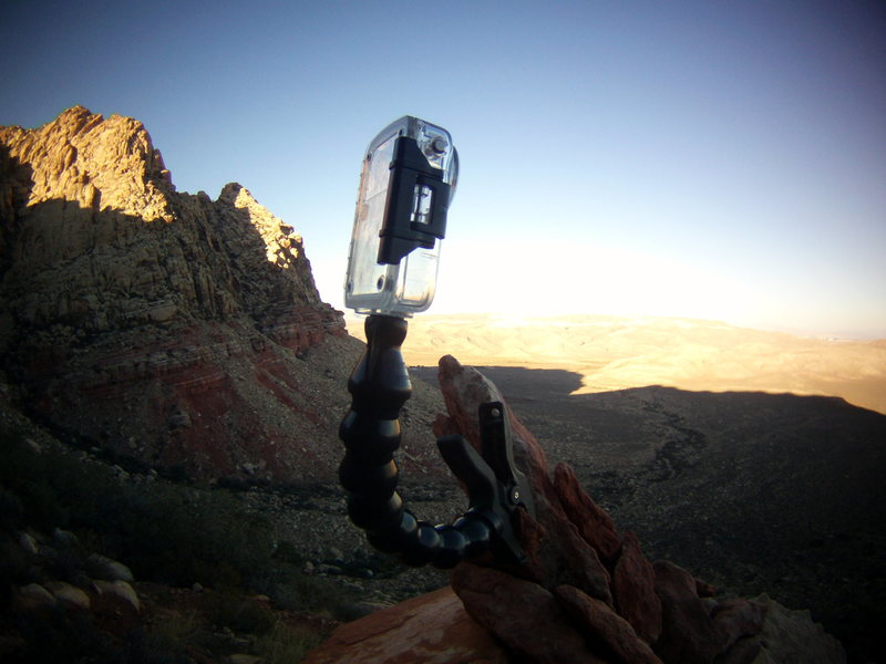 Steve D and I. Red Rocks, Nevada October 19th-23rd 2013. Dinkum Systems. Action Pod camera mount.