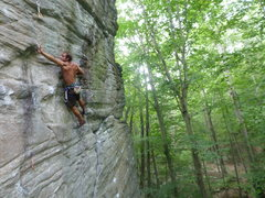 Rock Climbing Photo: Ryan Richitelli trying Modern Collective in not-so...