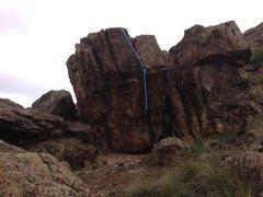 Rock Climbing Photo: Dibs and Dabs beta.