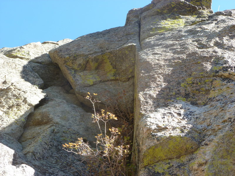 A closer view of the climb and the crack.