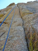 Rock Climbing Photo: A closer view of the crack and the climb.