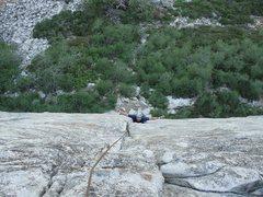Rock Climbing Photo: My good friend Keith Hancock having fun on the lin...