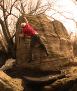Rock Climbing Photo: Michael Madsen on a later ascent of Contrivance ( ...