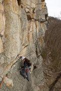 Rock Climbing Photo: p1 traverse on Gelsa