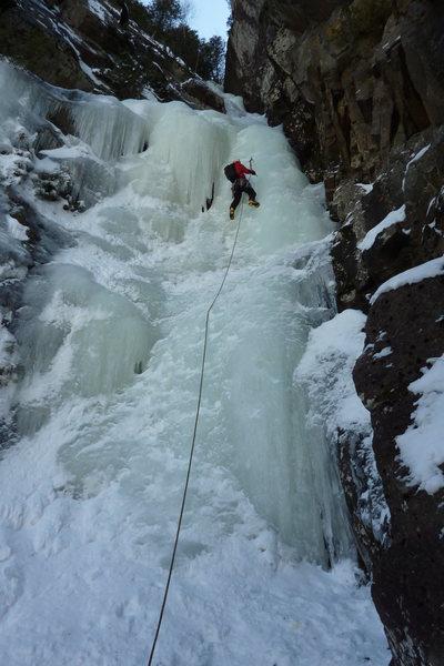 Rock Climbing Photo: starting p2 of M Gully