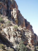 Rock Climbing Photo: Billy Goat Bluff's north side, the chimney is Ram'...
