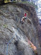 Rock Climbing Photo: Dave, trying to remember the beta on Hit the Atmos...