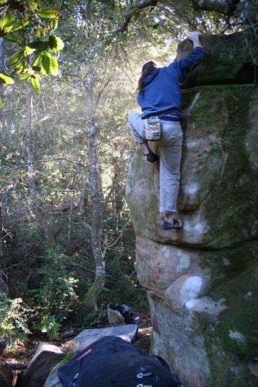 Rock Climbing Photo: Richie Esquibel on Funky Porcini