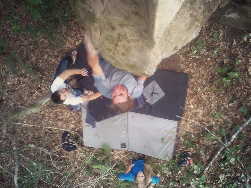 Rock Climbing Photo: Zach Anaya on the Unknown Arete