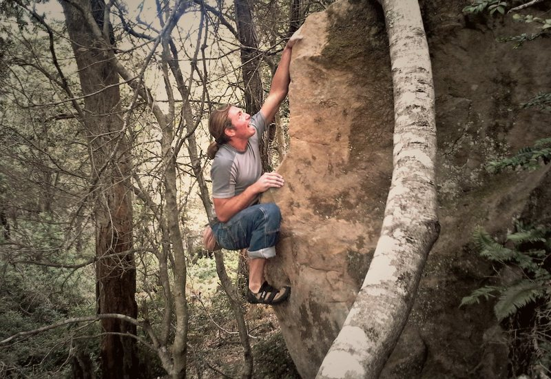 Unknown Arete at Johnny Cash Boulders. V2?