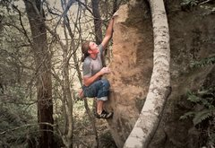 Rock Climbing Photo: Unknown Arete at Johnny Cash Boulders. V2?
