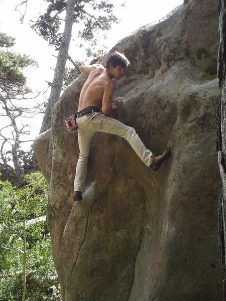 Rock Climbing Photo: JK on Vise Grip