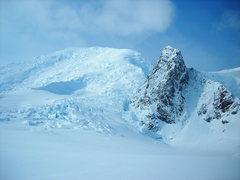 Rock Climbing Photo: Looking up at the North Ridge from BC at 7,000ft. ...