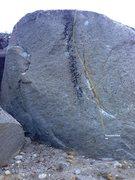 Rock Climbing Photo: Cresent Face Topo