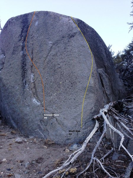 Cresent Boulder Topo