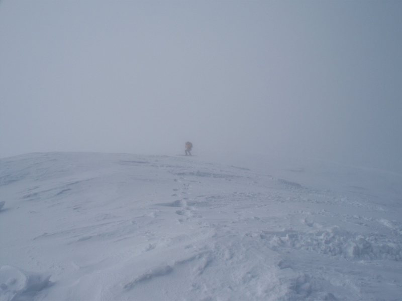 Skiing the South West Ridge. It's like a Chugach spine on steroids.