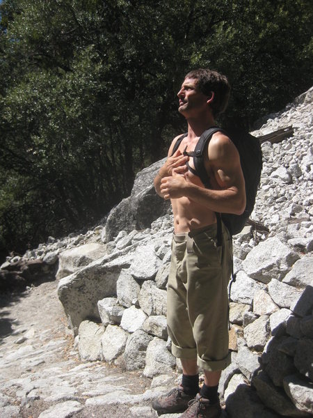 Rock Climbing Photo: standing at sentinel bench