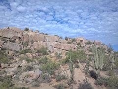 Rock Climbing Photo: View Northwest to the Cactus Flower Wall. Banana C...