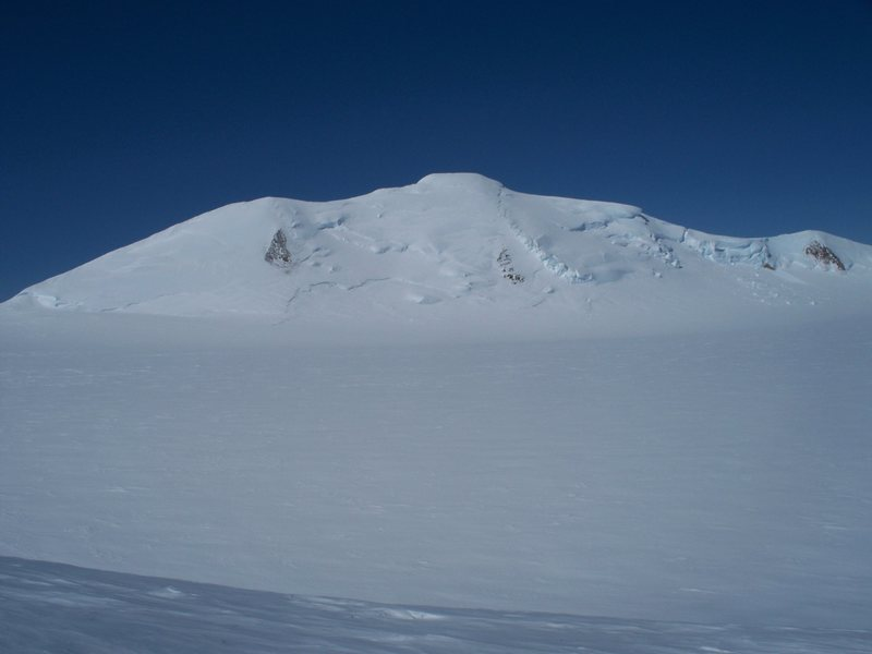 Mount Churchill from 14,000ft. The route ascends the left skyline ridge.