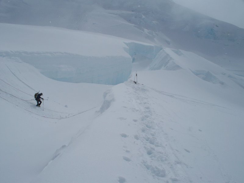 Rock Climbing Photo: Routine glacier travel out in Wrangell St. Elias.
