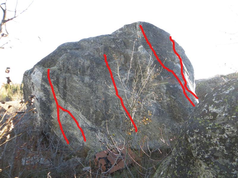 Rock Climbing Photo: L to R