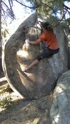 Rock Climbing Photo: Topping it out