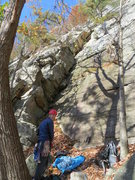 Rock Climbing Photo: The start of Snowpatch