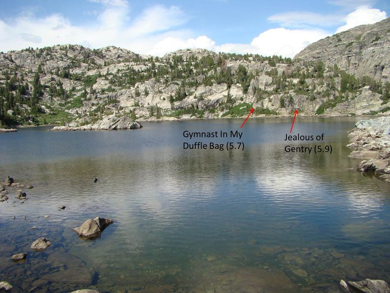 Rock Climbing Photo: Little Seneca Lake, taken from the south looking n...