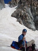 Rock Climbing Photo: A look up the southeast couloir, July, 26. 2013. M...