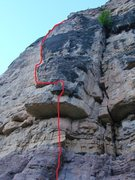 Rock Climbing Photo: Ka-Powzer! Climb the arete. Hold on tight and don'...